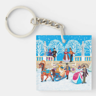 Winter walk keychain