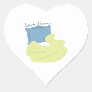 Winter Warm Up Heart Sticker