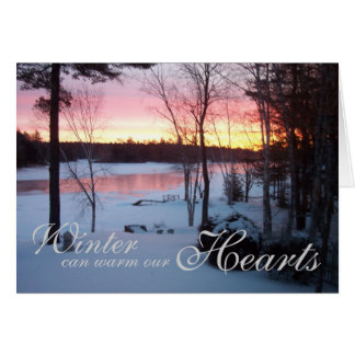 Winter warms our Hearts Card