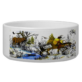Winter Warrior and Moose Collector's Dog Bowl
