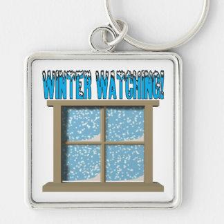 Winter Watching 2 Keychain
