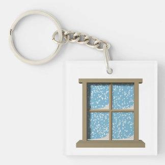 Winter Watching Keychain