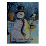 Winter Watchman Postcard