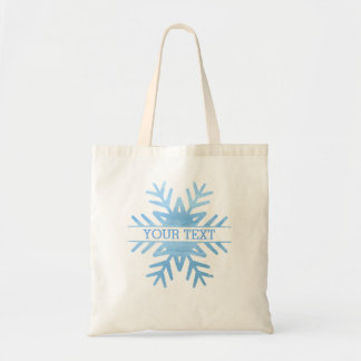 Winter Watercolor Holiday Snowflake Personalized Tote Bag