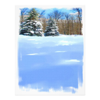 Winter Watercolor Letterhead