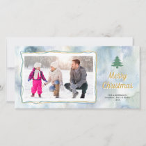 Winter Watercolor | Photo Christmas Holiday Card