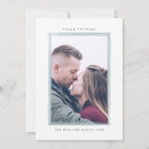 Winter Watercolor Stroke Christmas Photo Cards