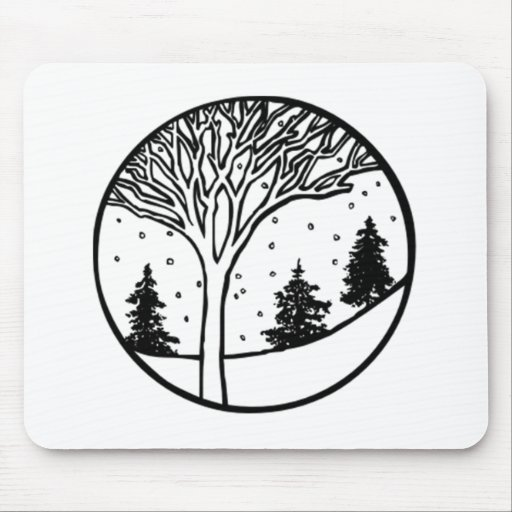Winter Weather Scene Mouse Pad