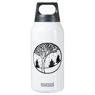Winter Weather Snow Scene Insulated Water Bottle