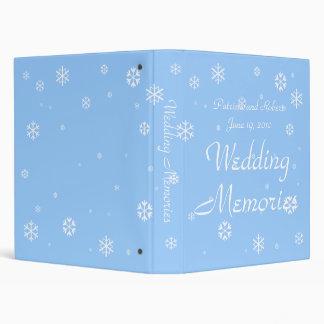 Winter Wedding 3 Ring Binder