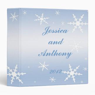 Winter Wedding Album 3 Ring Binder