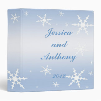 Winter Wedding Album 3 Ring Binders