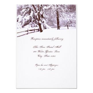 Winter Wedding Beautiful 4.5x6.25 Paper Invitation Card