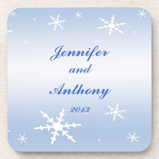 Winter Wedding Beverage Coaster