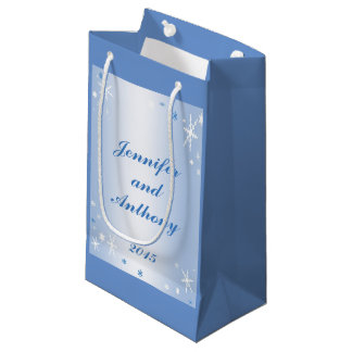 Wedding Gift Bag For Bride And Groom : Winter Wedding Bride and Groom Gift Bag