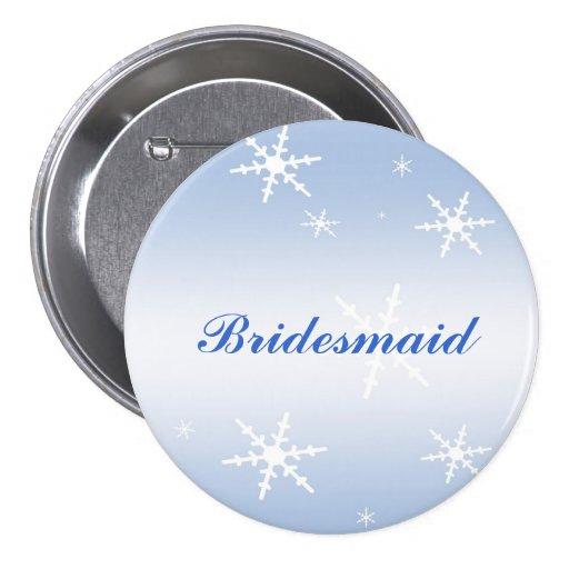 Winter Wedding Bridesmaid Pin