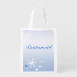 Winter Wedding Bridesmaid Tote Market Totes
