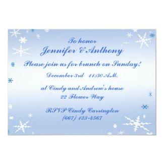 Winter Wedding Brunch 5x7 Paper Invitation Card