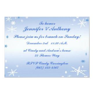 Winter Wedding Brunch Card