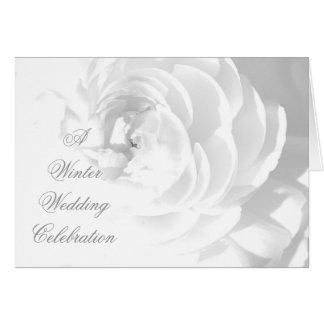Winter Wedding Celebration Invitation Card