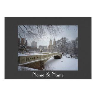Winter Wedding Central Park NYC Invite
