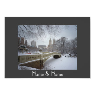 Winter Wedding Central Park NYC Invite