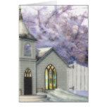 Winter Wedding Chapel Greeting Cards