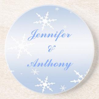 Winter Wedding Coaster
