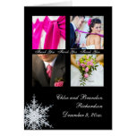 Winter Wedding Collage Thank You Card
