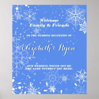 Winter Wedding, Custom Wedding Welcome Poster