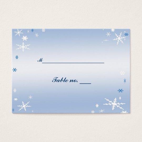 Winter Wedding Escort Card