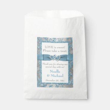 Winter Wedding Favor Bag | Winter Wonderland Blue Favor Bags