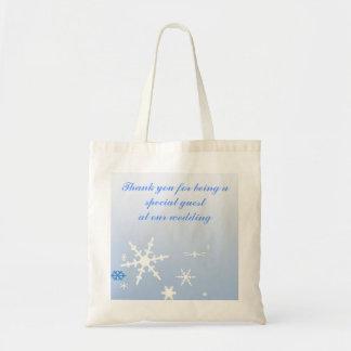 Winter Wedding Favor Tote Bag