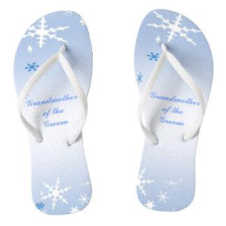 Winter Wedding Grandmother of the Groom Flip Flops