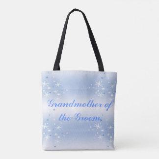 Winter Wedding Grandmother of the Groom Tote Bag