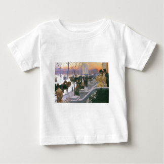 Winter Wedding in Washington Square c. 1897 Baby T-Shirt