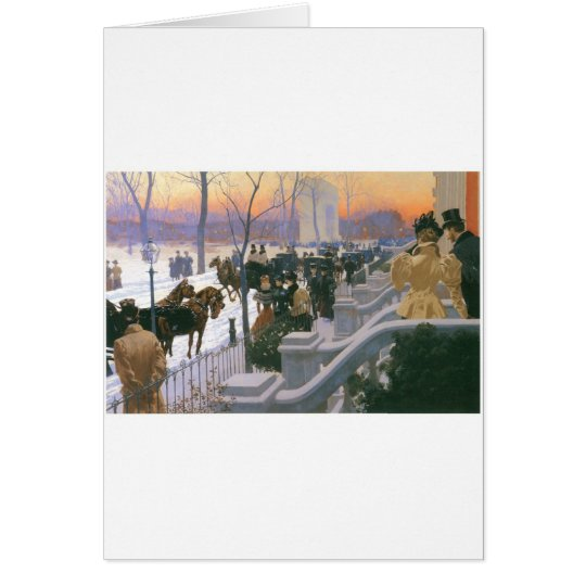 Winter Wedding in Washington Square c. 1897 Card