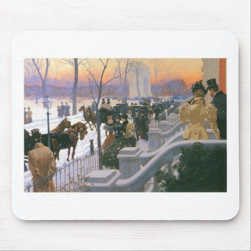 Winter Wedding in Washington Square c. 1897 Mouse Pad