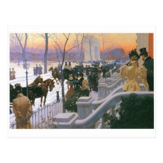 Winter Wedding in Washington Square c. 1897 Postcard