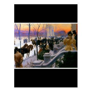 Winter Wedding In Washington Square Postcard