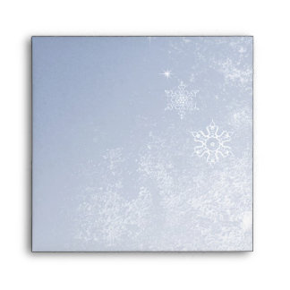 Winter Wedding Invitation Envelope