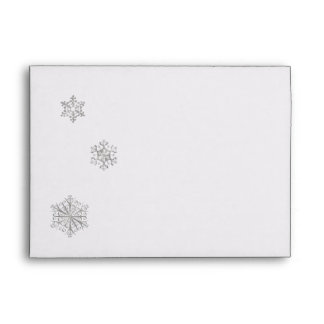 Winter Wedding Invitation Envelope