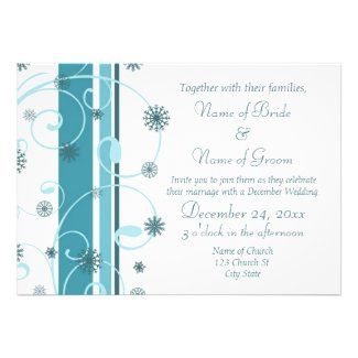 Winter Wedding Invitation Photo Cards