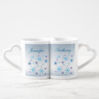 Winter Wedding Lovers Mugs