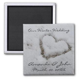 Winter Wedding Magnets