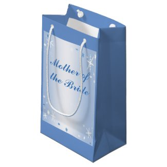 Winter Wedding Mother of the Bride Gift Bag Small Gift Bag