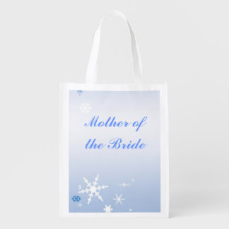 Winter Wedding Mother of the Bride Tote Reusable Grocery Bag