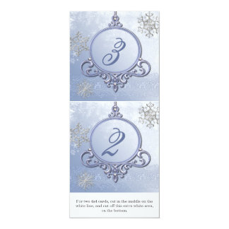 Winter Wedding Ornament Reception Table Numbers Custom Invite