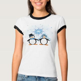 Winter Wedding Penguins T-shirt