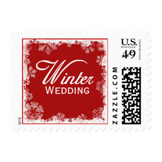 Winter Wedding Postage